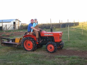 Jason and Amy tractor lessons